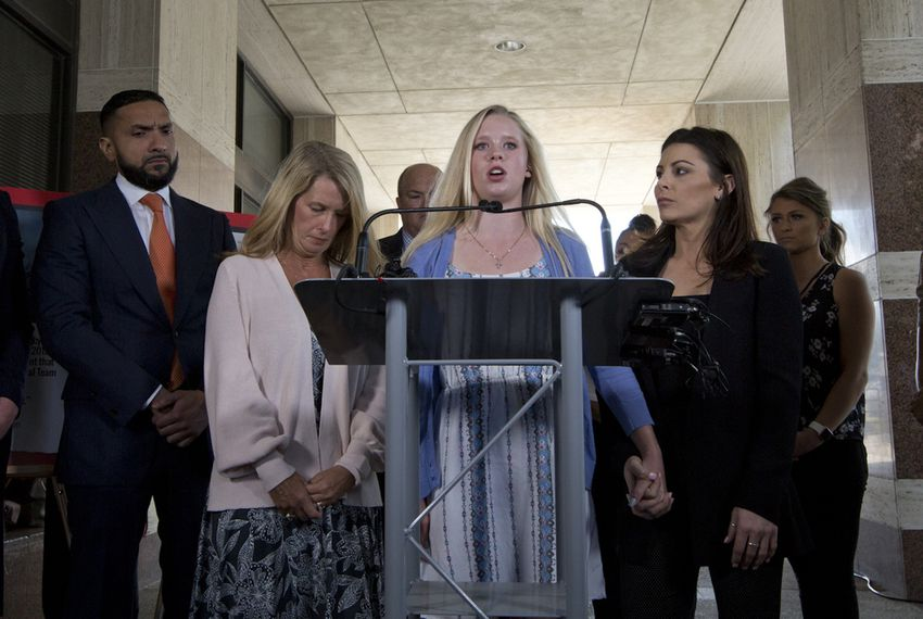 Nassar survivors call on Texas AG to take action against the Karolyis