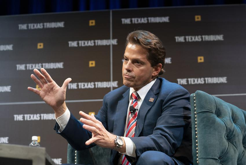 Ben Smith interviews Anthony Scaramucci at The Texas Tribune Festival on Friday, Sept. 27, 2019.