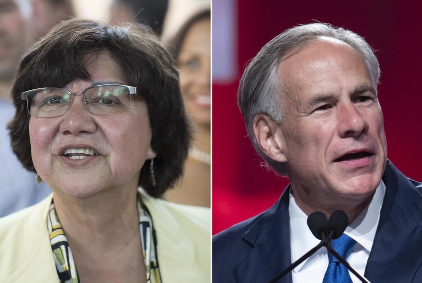 Democratic candidate for governor Lupe Valdez and incumbent Gov. Greg Abbott.