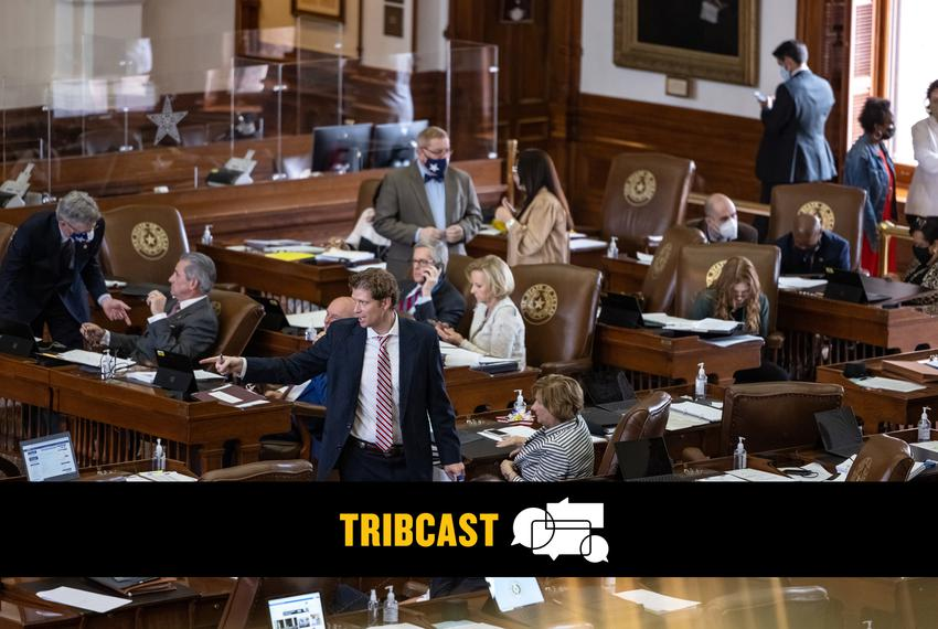 Representatives discuss budget amendments from their desks on the House floor on Thursday, April 22, 2021.
