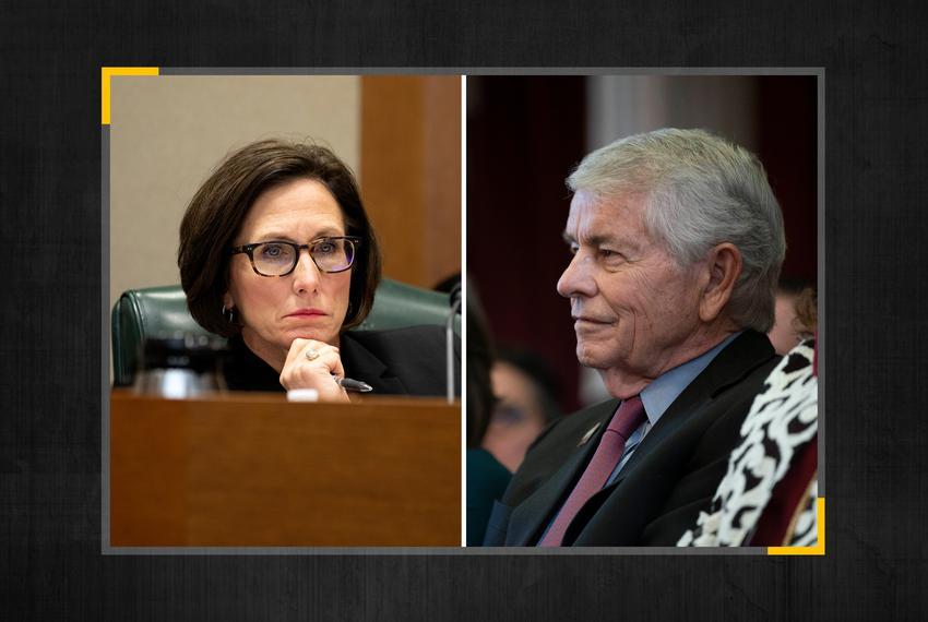 State Sen. Lois Kolkhorst, R-Brenham, and State Rep. Tom Craddick, R-Midland.