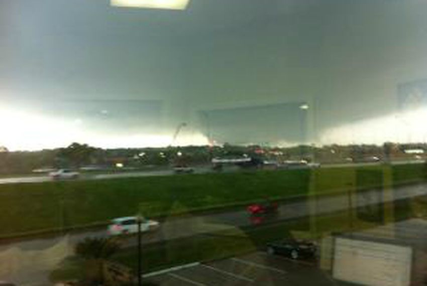 US Rep. Joe Barton tweeted this photo of a tornado visible from his district office in Arlington — Tuesday, April 3, 2012.