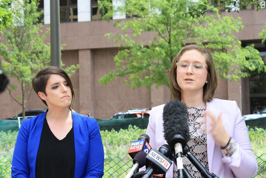 Stacy Bailey, left, has sued Mansfield Independent School District alleging that it discriminated against her based on her s…