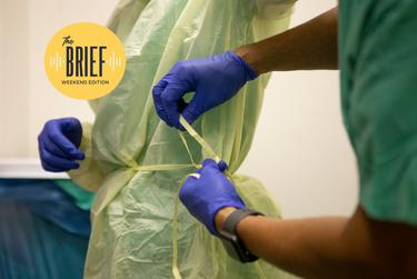 Nurses prepared to enter a COVID-19 unit at the DHR Health in McAllen in 2020. Because of the risk of exposure to COVID-19, health workers are required to wear personal protective equipment.