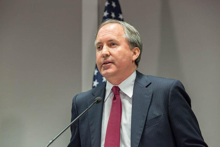 Texas Attorney General Ken Paxton at a press conference in Austin on Jan. 13, 2016 to announce a new unit within the Texas A…