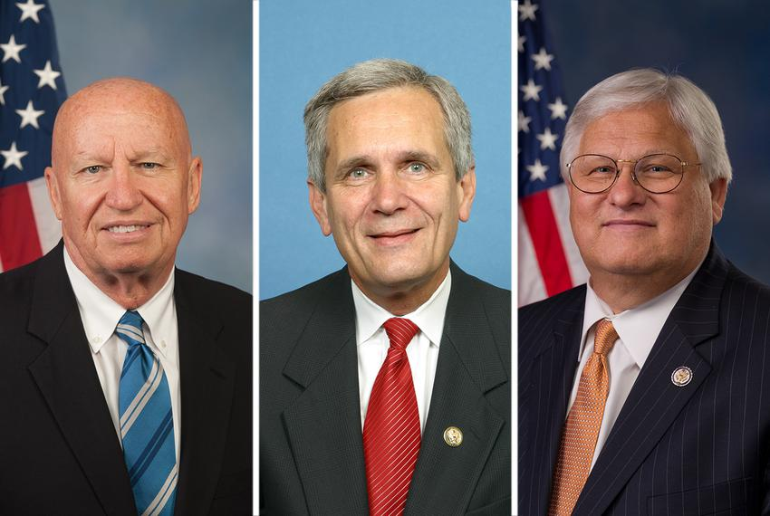 U.S. Reps. Kevin Brady, R-The Woodlands, Lloyd Doggett, D-Austin, and Kenny Marchant, R-Coppell.