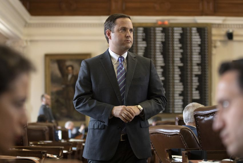 State Rep. Dustin Burrows, R-Lubbock, on the House floor on May 14.