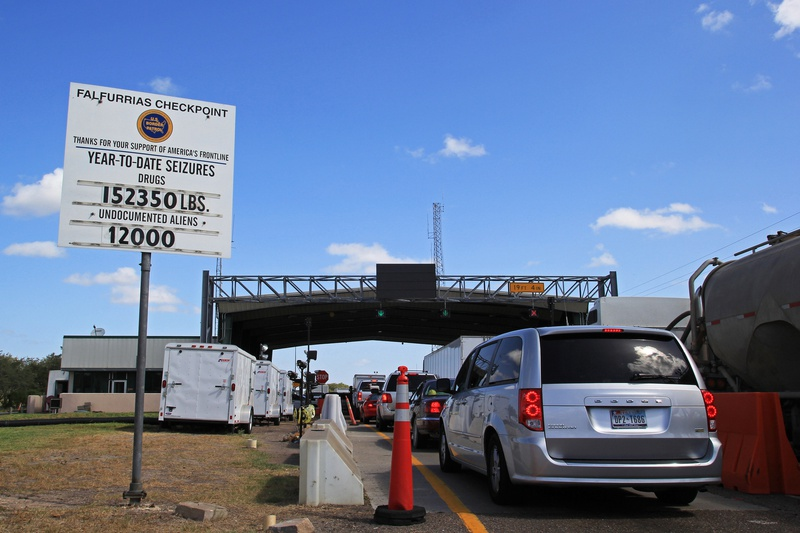 U.S. Border Patrol checkpoint in Falfurrias, Texas.