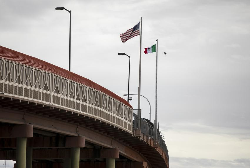 Seen is the international port of entry in downtown El Paso on Sunday, February 10, 2019. Photo by Ivan Pierre Aguirre for T…