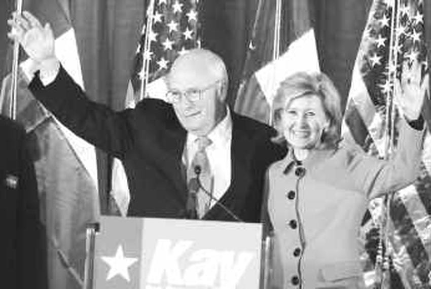 Dick Cheney and Kay Bailey Hutchison in Houston on November 17, 2009