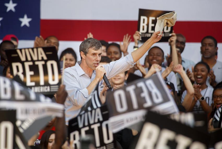 Beto O'Rourke speaks at Texas Southern University in Houston during his Presidential Campaign kick off on March 30, 2019.