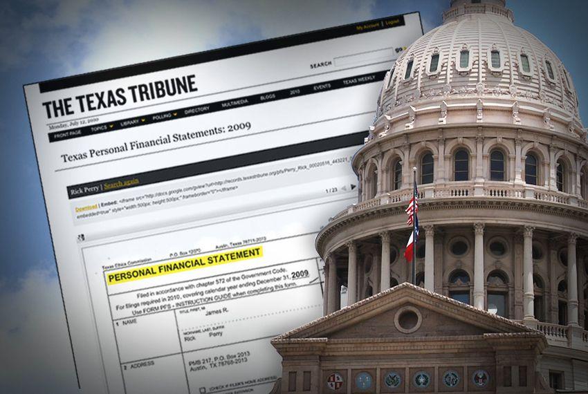 Search Texas Officials' Financial Disclosures | The Texas