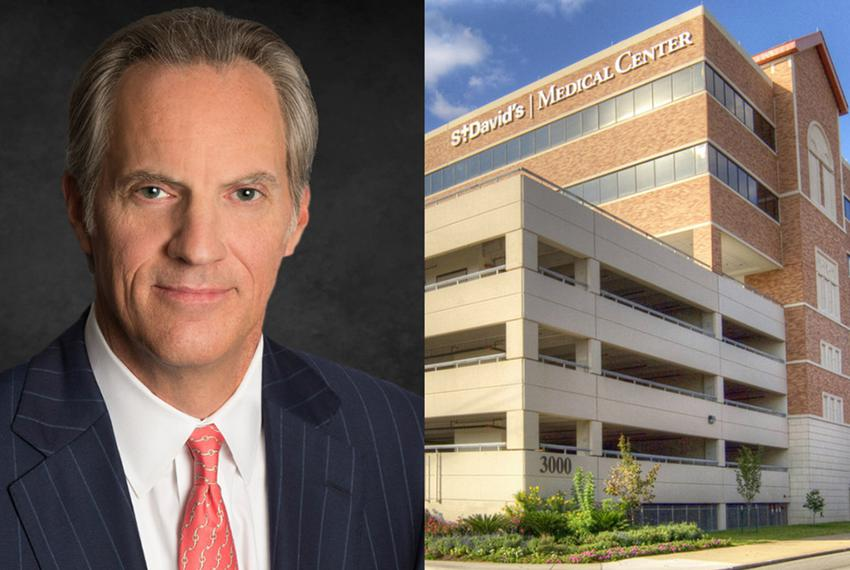 St. David¹s HealthCare President and CEO David Huffstutler and newly-elected elected chairman of THA Board of Trustees.