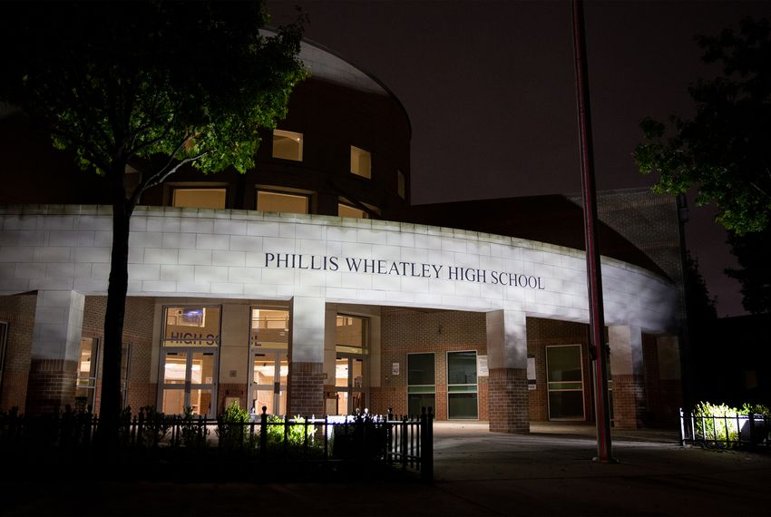 The longtime academic failure of Wheatley High School was cited as one reason for the district takeover.