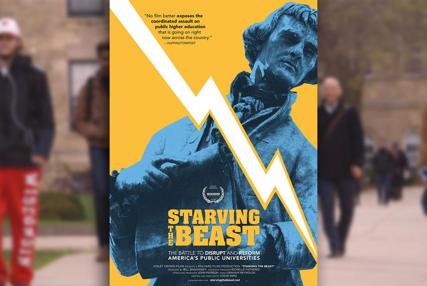 """Starving the Beast,"" a new documentary directed by Steve Mims, examines higher education defunding over the past three de..."