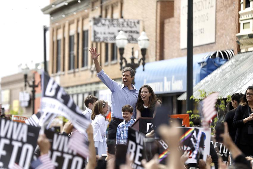 Presidential candidate Beto O'Rourke, along with wife Amy and children Ulysses, Molly and Henry, officially launch the 2020 …