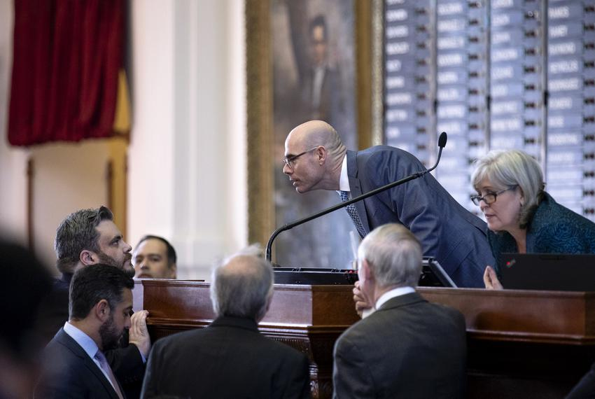 House Speaker Dennis Bonnen presiding over his first votes as speaker of the house. Jan. 9, 2019. Miguel Gutierrez Jr. / Tex…