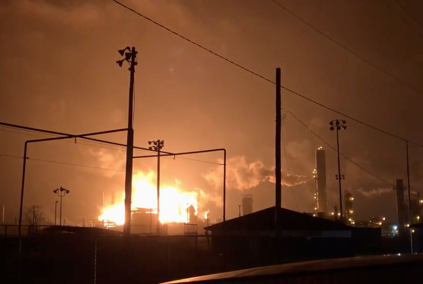 An explosion and fire at a chemical plant in Port Neches on Nov. 27, 2019.