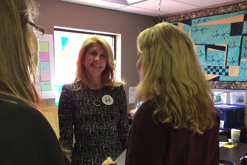 Former state Sen. and Texas gubernatorial candidate Wendy Davis campaigned for Hillary Clinton in Cedar Rapids, Iowa, on Dec…