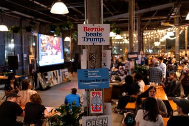 Bernie Sanders Super Tuesday Party in Austin, TX.