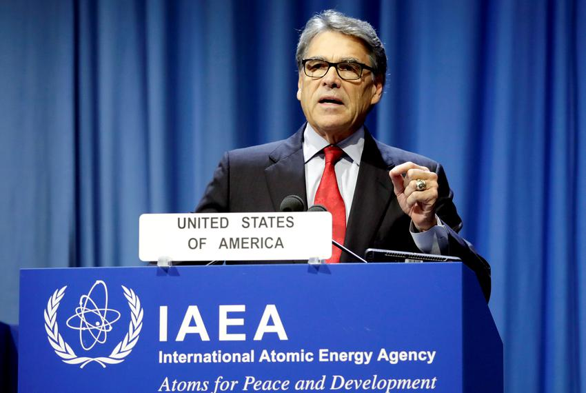 Energy Secretary Rick Perry attends the opening of the International Atomic Energy Agency (IAEA) General Conference at its...
