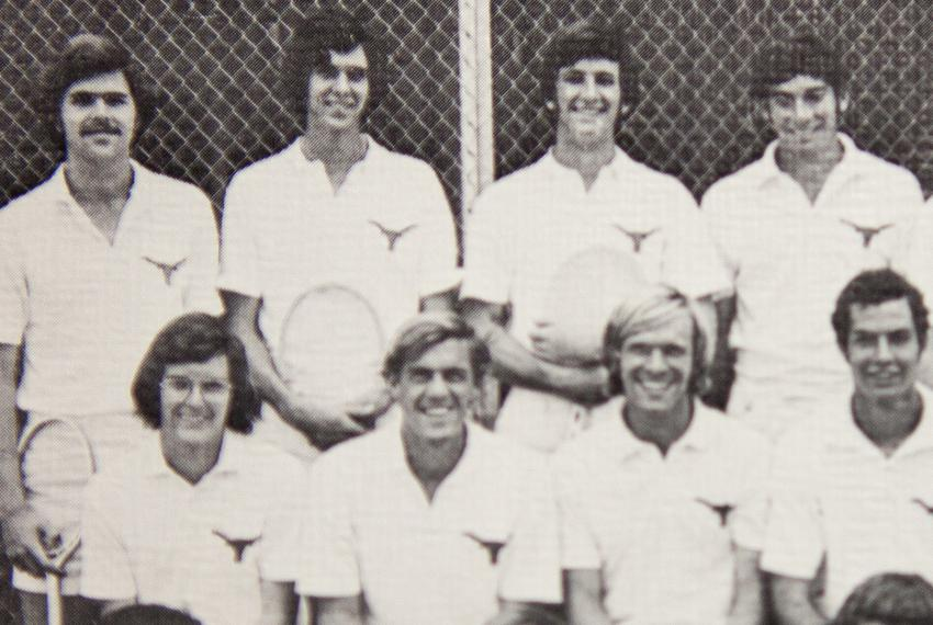 Jeb Bush, back left, on the University of Texas varsity tennis team as a junior in 1973. The team photo appeared in the 19...