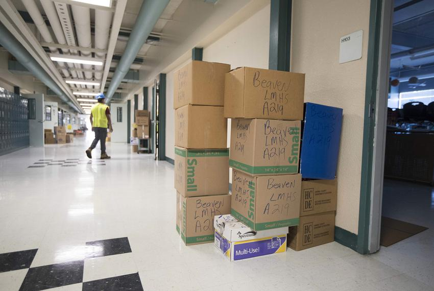 La Marque Middle School students will have to study in the high school building, due to floodwater-related damage.