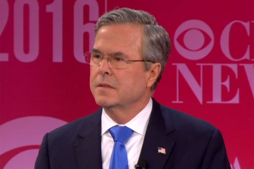 Former Florida Gov. and presidential candidate Jeb Bush at the GOP debate in Greenville, South Carolina on Feb. 13, 2016.