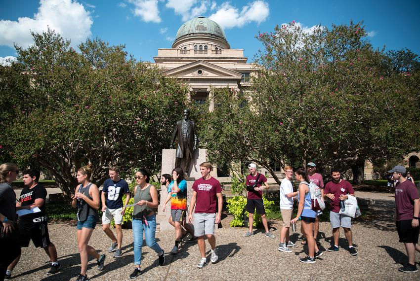 "A statue of Lawrence Sullivan ""Sul"" Ross at Texas A&M University on Aug. 23. Ross was a Civil War general in the Confede..."