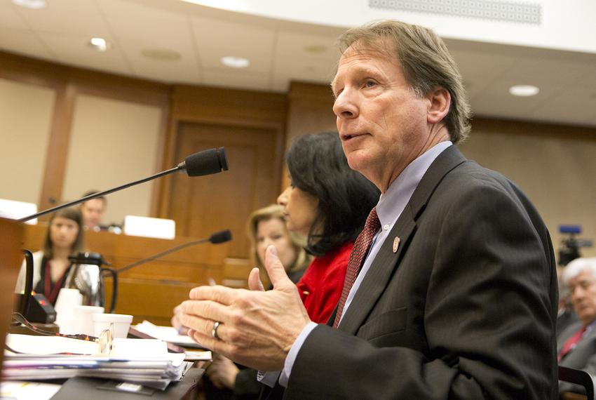 Robert Duncan during a Joint Interim Committee on Higher Education Formula Funding hearing on Feb. 21, 2018.