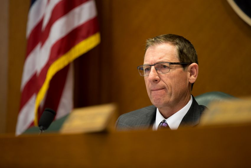 State Rep. Byron Cook, R-Corsicana, the chairman of the House State Affairs Committee, listened to testimony about how researchers use fetal tissue on April 28, 2016.