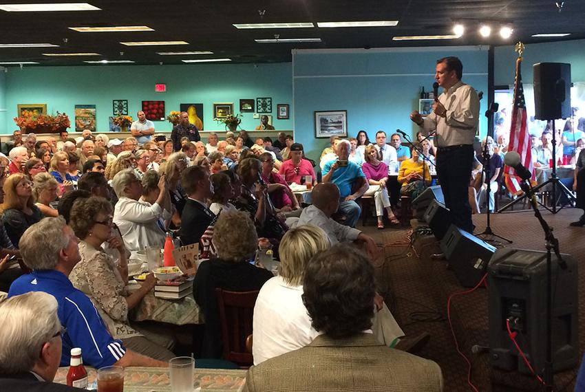 U.S. Sen. Ted Cruz, R-Texas, speaks Tuesday in Olive Branch, Mississippi. The 2016 presidential candidate was visiting the a…