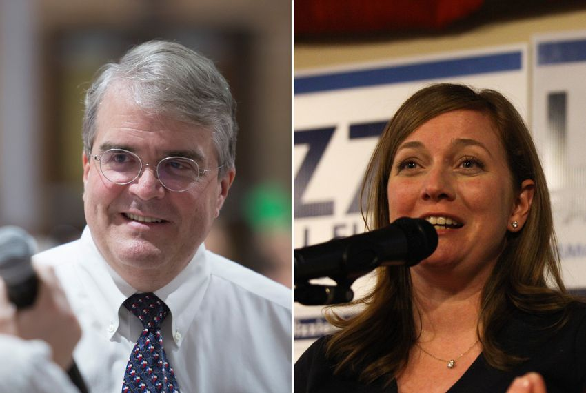 U.S. Rep. John Culberson, R-Houston, and Lizzie Pannill Fletcher, his challenger in TX-7.