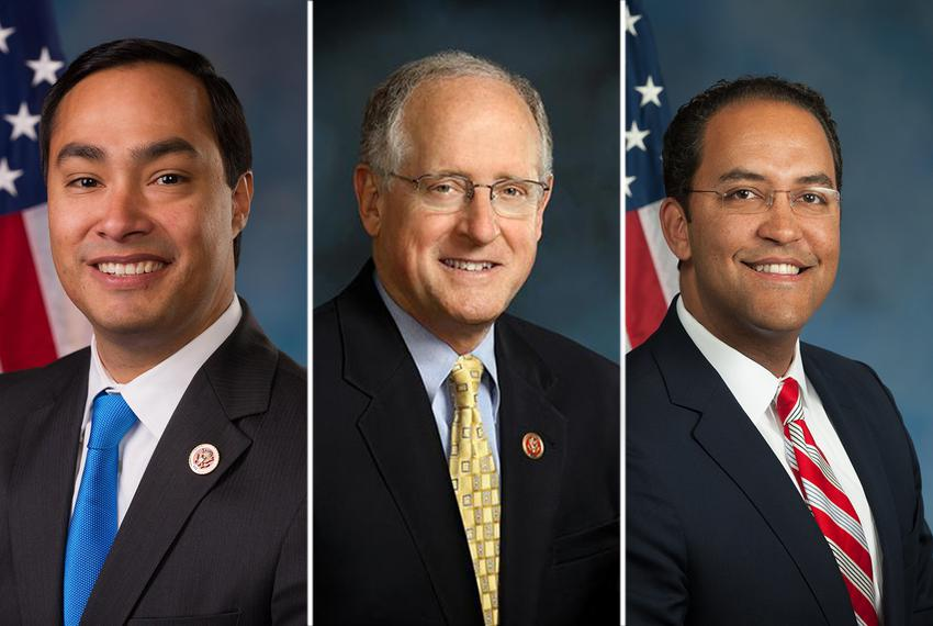 (L-R) U.S. Reps. Joaquin Castro, D-San Antonio, Mike Conaway, R-Midland and Will Hurd, R-Elotes all serve on the House Perm…