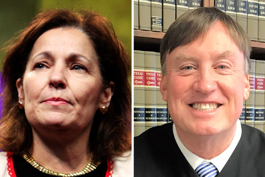 Sharon Keller and David Bridges are both running in the 2018 Republican primary for presiding judge of the state's Court of Criminal Appeals.