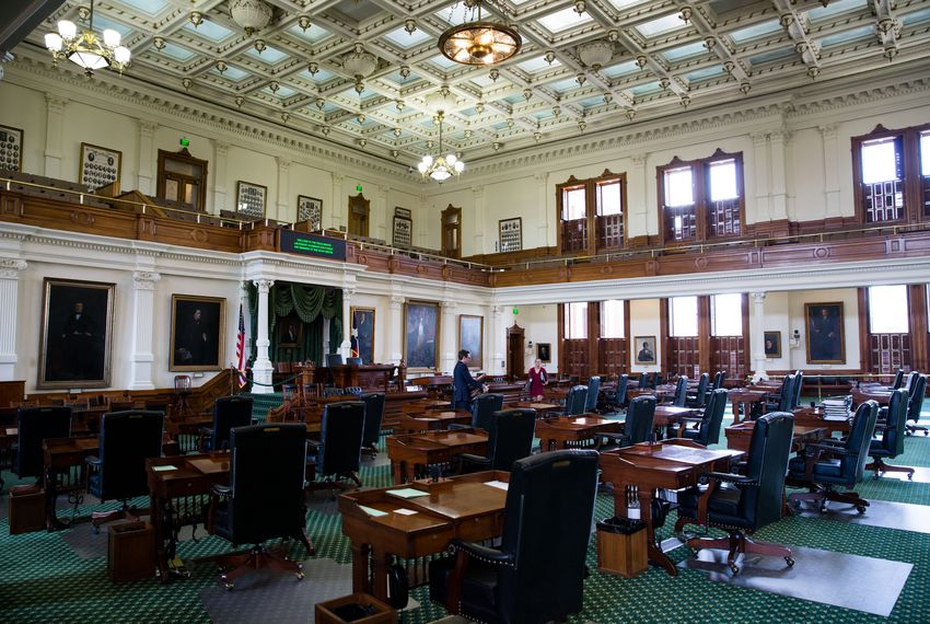 The Senate chamber at the Texas Capitol on Aug. 16, 2017, the morning after the end of the special session.