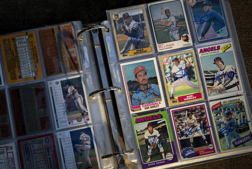 The Turner family made a hobby of sending baseball cards and letters to former players to sign and respond to during the pan…
