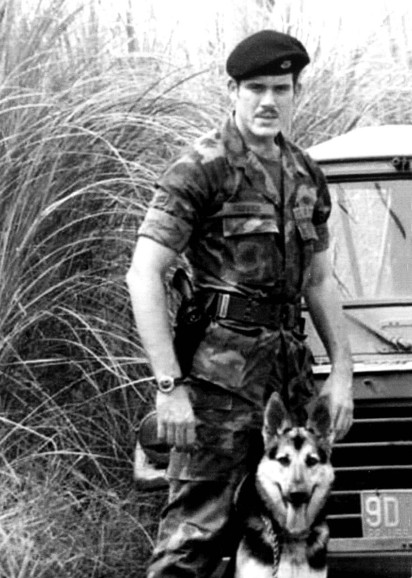 Collin County Sheriff Jim Skinner served in the Philippines as one of the Air Force's K9 handlers. He extended his tour se...