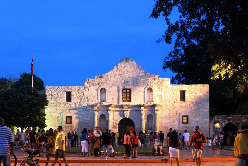An Alamo Plaza Better Block event on Aug. 17, 2012.