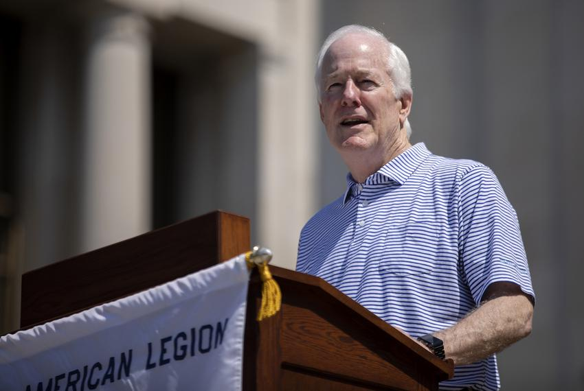 U.S. Sen. John Cornyn, R-Texas, speaks at The American Legion Boys State ceremony on the south steps of the University of Te…