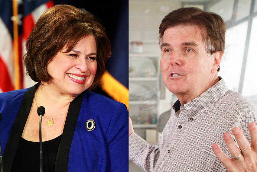 State Sens. Leticia Van de Putte, D-San Antonio, and Dan Patrick, R-Houston, will face off against each other in the gener...