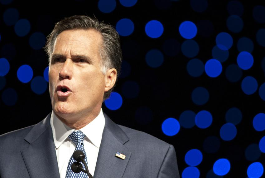 Former Massachusetts Gov. Mitt Romney speaks at the Veterans of Foreign Wars national conference in San Antonio on Aug. 30, …