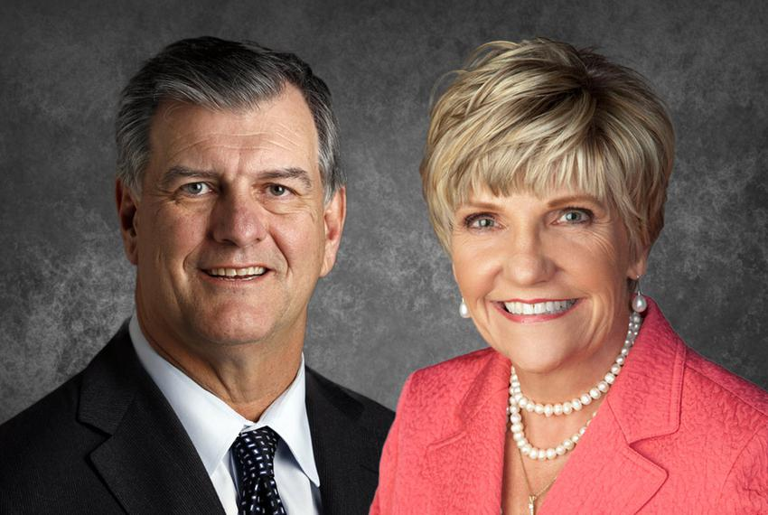 Dallas Mayor Mike Rawlings and Fort Worth Mayor Betsy Price