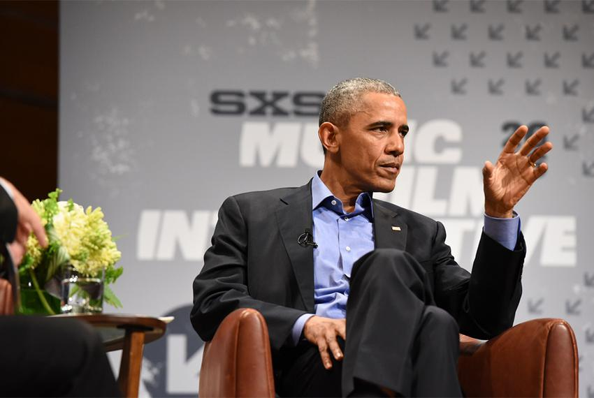 President Obama talked about civic engagement in a digital age during an interview with The Texas Tribune's Evan Smith at th…