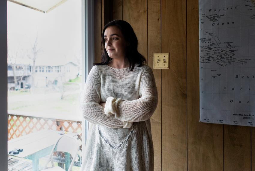 Portrait of Sydney Sigler, 26, inside her home in Robinson, Texas on Feb. 26, 2019.