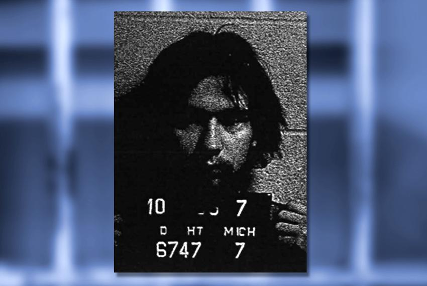 Mug shot from the Oct. 5, 1977, arrest of Stephen Ernest Stockman by the Madison Heights, Mich., police department. Stockman…
