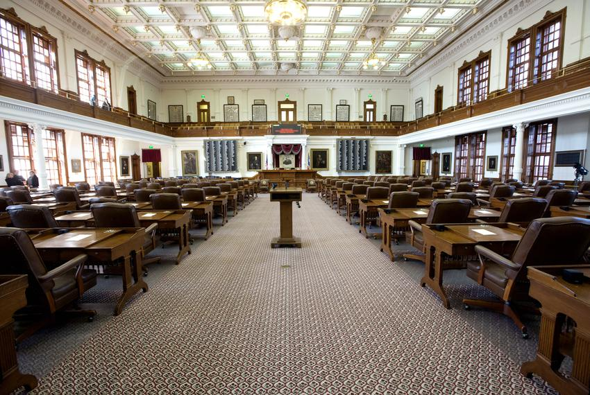 The Texas House of Representatives chamber on Nov. 20, 2018.