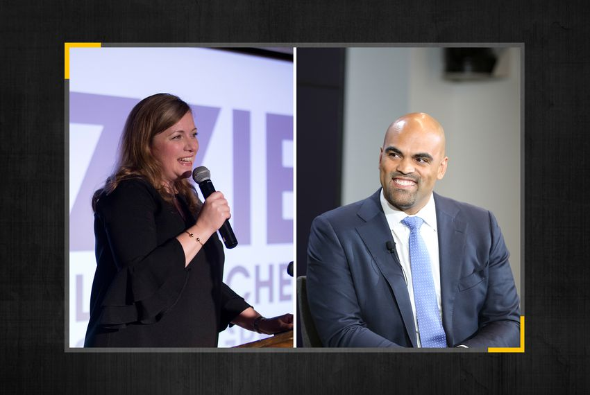 U.S. Reps. Lizzie Fletcher (left) and Colin Allred.