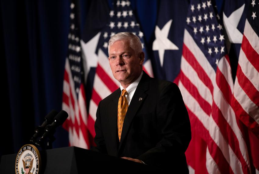 U.S. Rep. Pete Sessions spoke to a crowd of supporters during a campaign event at the Park Cities Hilton in 2018.