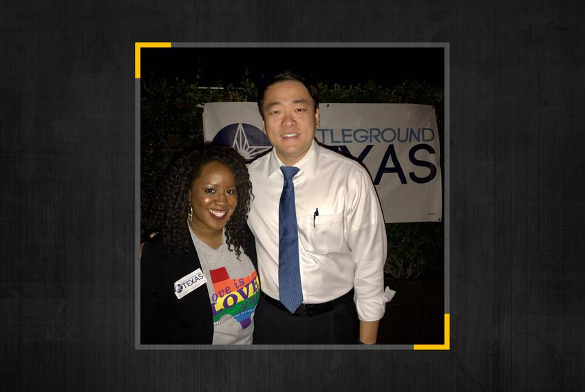 Delilah Agho-Otoghile  with State Rep. Gene Wu, D-Houston.